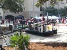 TV coverage outside Kyle Field